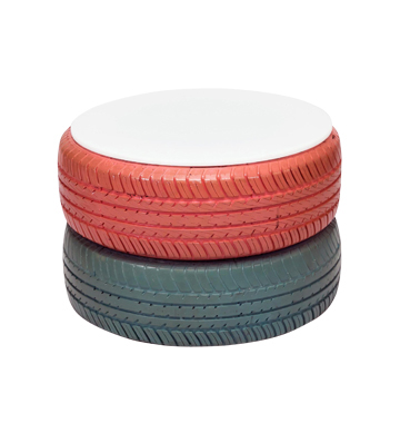 Coffee Table Blue Pink Tyre Funktionality